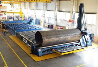 Vierwalzen Rundbiegemaschine Vierwalzen Einrollmaschine 6m