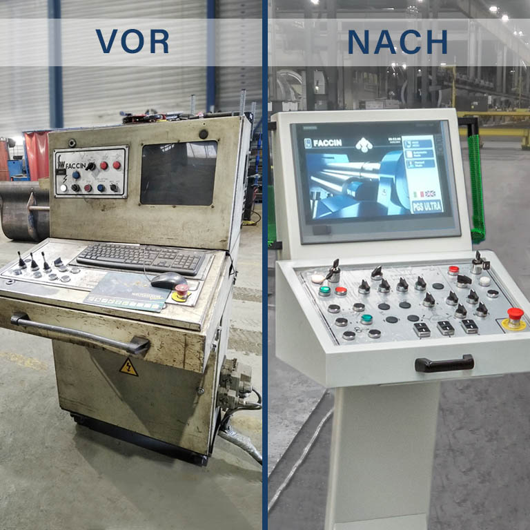 Faccin: comparison of an old CNC with the innovative Siemens CNC PGS Ultra