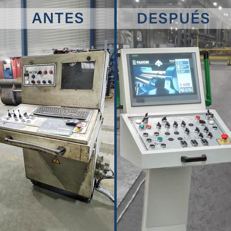 Faccin: comparación de un CNC obsoleto con el innovador CNC Siemens PGS Ultra