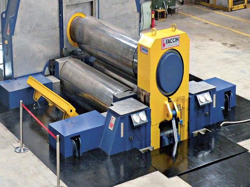 3 Roll Variable Geometry Plate Bending Machine Faccin