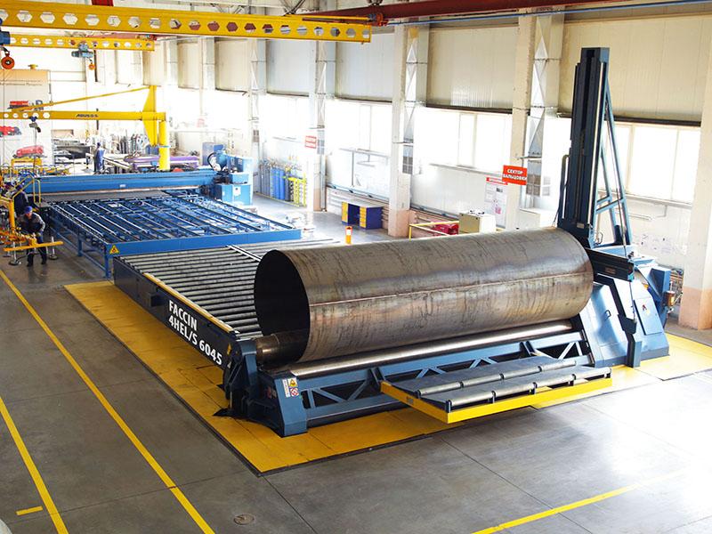 4 Roll Plate Bending Machine 4hel Faccin
