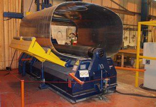 4 rolls plate roll truck silos