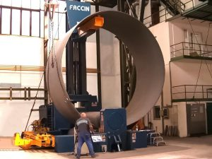 Faccin 3 Roll Variable Geometry Plate Bending Roll HAV for Wind Tower Production