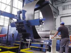 Faccin 4 Rolls Plate Bending Machine 4HEL for Wind Towers Production