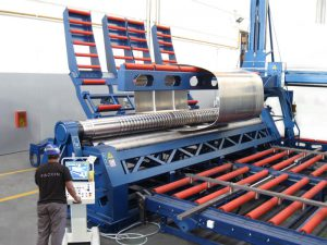 Faccin 4 Rolls Plate Bending Machine 4HEL for truck tanks production