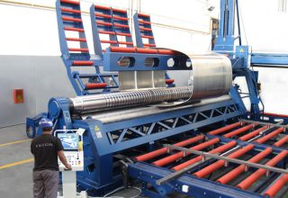 Faccin 4 Rolls Plate Bending Machine 4HEL for truck tanks production