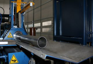 Automatic plate rolls pipe