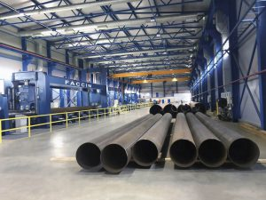 Faccin Long Plate Roll HAV-2P for pipelines production