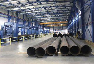 Faccin Long Plate Roll HAV 2P for pipelines production