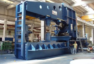 Dished end flanging machine 40mm
