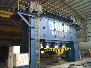 Faccin dished ends presses 3600 Tons PPM+MA