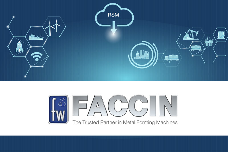 Faccin: blue background with technology icons