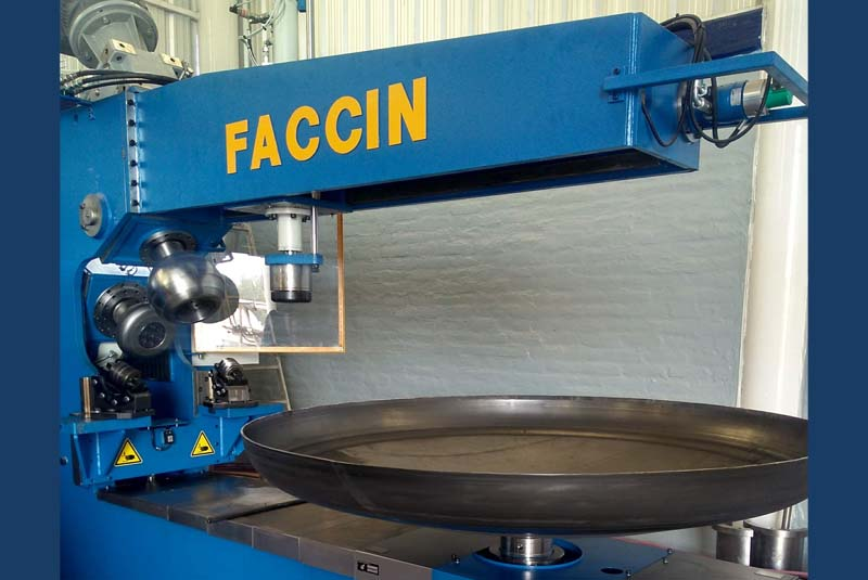 Faccin: flaning machine with dished head plate