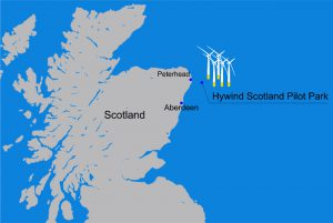 Faccin: Scotland map with Floating Wind Farm location