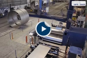 Faccin: Video of wind tower production, rolled metal cans
