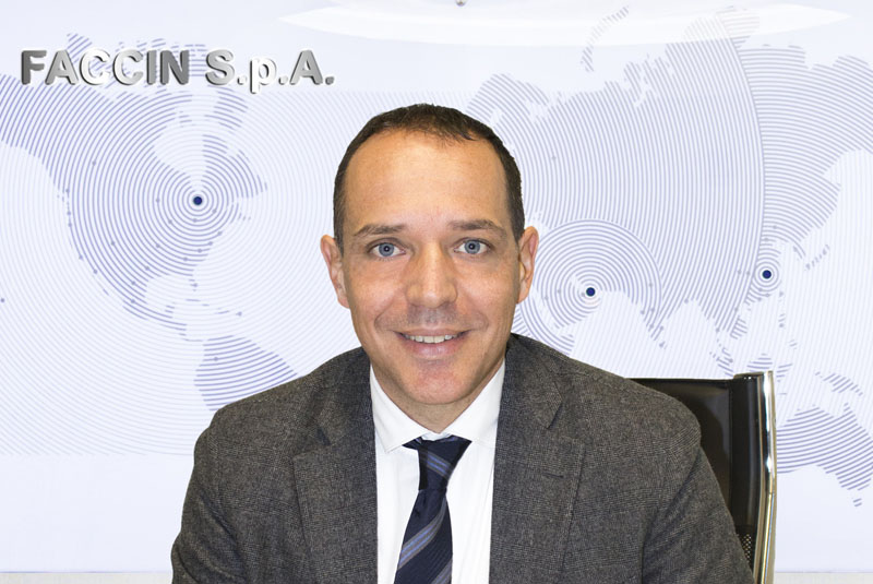 Faccin Group: CEO Andrea Ceretti and world map