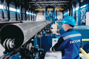 Faccin Plate Roll for Pipeline Production with rolled pipe